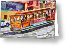 San Francisco Trams 5 Greeting Card by Yury Malkov