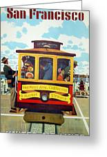 San Francisco Trolley Greeting Card