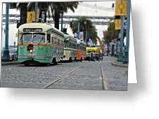 San Francisco Trolleys Greeting Card