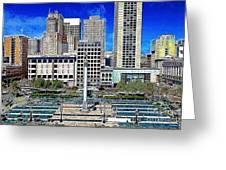 San Francisco Union Square 5d17938 Artwork Greeting Card