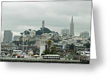 San Francisco View From Fishermans Wharf Greeting Card