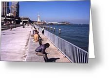 San Francisco Waterfront 1975 Greeting Card