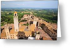 San Gimignano From The Top Of A Tower Greeting Card