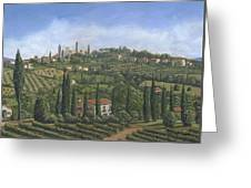 San Gimignano Tuscany Greeting Card