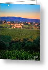 San Gimignano Vineyards Greeting Card