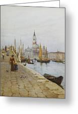 San Giorgio Maggiore From The Zattere Greeting Card