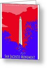 San Jacinto Monument Red White Blue Greeting Card