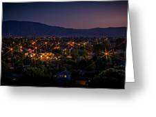 San Jose At Dusk Greeting Card