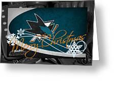 San Jose Sharks Christmas Greeting Card