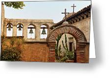 San Juan Capistrano Mission - Photography By Jo Ann Tomaselli Greeting Card