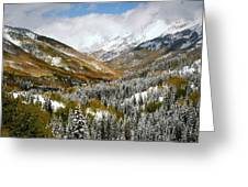 San Juan Mountains After Recent Snowstorm Greeting Card