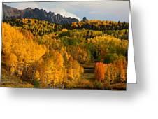 San Juan Mountains In Autumn Greeting Card