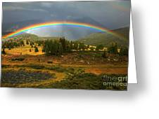 San Juan Mountains Rainbow Greeting Card