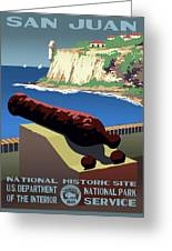 San Juan National Historic Site Vintage Poster Greeting Card
