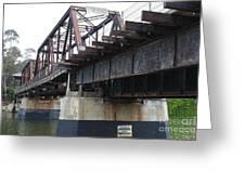 San Lorenzo River Train Bridge At Santa Cruz Beach Boardwalk California 5d23609 Greeting Card