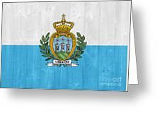 San Marino Flag Greeting Card