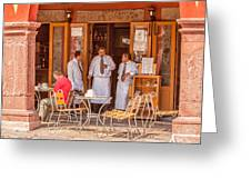 San Miguel - Waiting For Customers Greeting Card