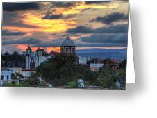 San Miguel De Allende Sunset Greeting Card