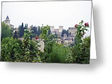 San Nicolas View Of The Alhambra On A Rainy Day - Granada - Spain - Spain Greeting Card