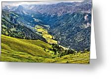 San Nicolo' Valley - Italy Greeting Card