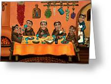 San Pascuals Table Greeting Card by Victoria De Almeida