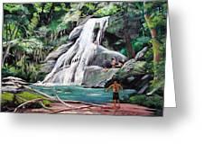 San Sebastian Waterfall Greeting Card