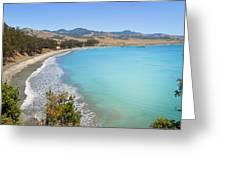 San Simeon Bay Greeting Card
