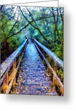 San Simeon Foot Bridge Greeting Card
