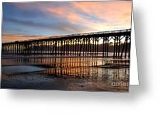 San Simeon Pier Greeting Card