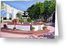 San Xavier Courtyard Greeting Card