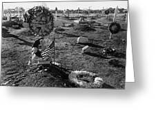 San Xavier Del Bac Cemetery 1987 Greeting Card