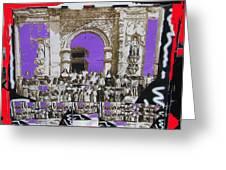 San Xavier Del Bac Church Collage Tucson Arizona C.1885-2012 Greeting Card