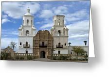 San Xavier Del Bac Mission Facade Greeting Card