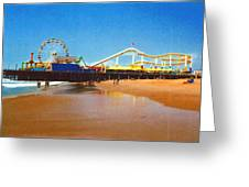 Sana Monica Pier Greeting Card