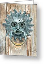 Sanctuary Knocker Greeting Card