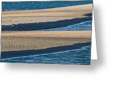 Sand And Water Textures Abstract Greeting Card