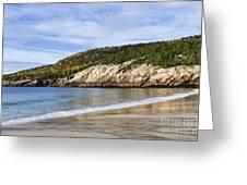 Sand Beach Acadia Greeting Card