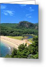 Sand Beach And The Beehive Greeting Card