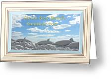 Sand Dolphins - Digitally Framed Greeting Card