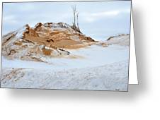Sand Dune In Winter Greeting Card