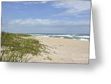 Sand Dunes And The Sea Greeting Card