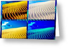 Sand Dunes Collage Greeting Card