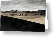 Sand Dunes In A Desert, Namib Desert Greeting Card
