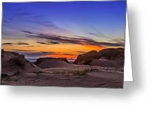 Sand Dunes Sunset Greeting Card