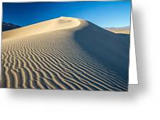 Sand Dunes Wind Erosion Greeting Card
