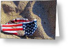 Sand Flag Greeting Card