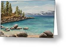 Sand Harbor Lake Tahoe Greeting Card
