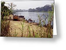 Sand Mining Greeting Card