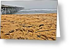Sand On The Beach Greeting Card