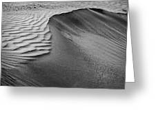 Sand Pattern Abstract - 2 - Black And White Greeting Card